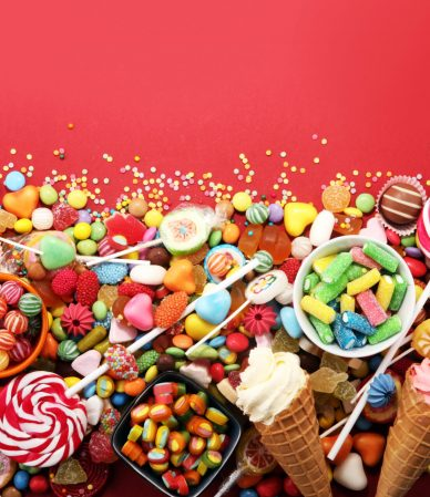 Candies,With,Jelly,And,Sugar.,Colorful,Array,Of,Different,Childs